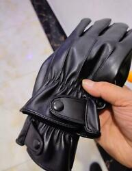 Gloves Pure Sheepskin Gloves Men#x27;s Leather Touch Screen Warm Driving Leather $12.50