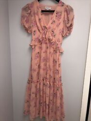Love Shack Fancy For Target Floral Pink Dress Size 0 Small $45.00