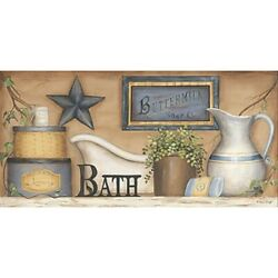 Country Home Decor Bathroom Powder Room Wall Art Print Picture $16.99