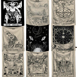 Tarot Card Tapestry Art Wall Hanging Astrology Bedspread Home Decor Divination $8.07