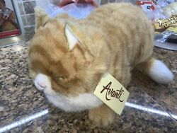 Vintage 1985 Avanti Applause Orange Tabby Stuffed Cat 15 Inches Long Plus Tail $23.00