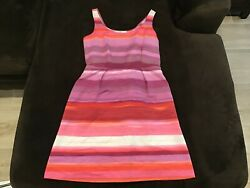 Women#x27;s Ann Taylor Loft Pink Purple and Orange Dress Size 6