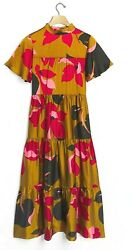 Anthropologie Women Corey Lynn Calter Gianna Tiered Maxi Floral Dress sz S NWT $110.46