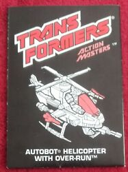 G1 HELICOPTER WITH OVER RUN manual Action Masters 1990 Transformers instructions $9.99