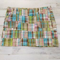 Maurices Skirt Women#x27;s Size 20 Short with Pockets Madras Plaid $14.99