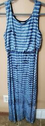 Live And Let Live blue Maxi Dress M $15.00