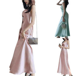 Women Strappy Evening Party Long Dress Gown Formal Bridesmaid Wedding Maxi Dress $22.22