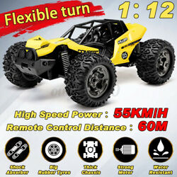 Xmas Gift 1 12 55KM H 2.4G Remote Control Car RC Electric Monster OffRoad $46.49