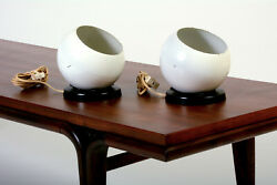 PAIR Mid Century Mod 1960 70#x27;s quot;Swivelierquot; EyeBall Accent Lamps $69.99