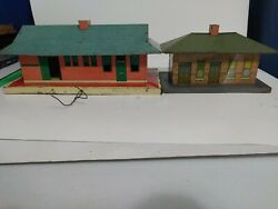Lot Of 2 Vintage Train Diorama Houses $28.17
