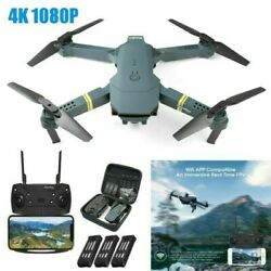 Drone X Pro 2.4G WIFI FPV 1080P HD Camera Foldable RC Quadcopter 3 Battery Black $29.99