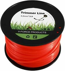 246FT Red Commercial Square Shaped Nylon String Lawn Trimmer Line for Weed Grass