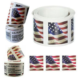 100 count Roll Coil 2017 US American Forever Flag Stamps Sealed Free Shipping $31.34