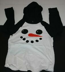 USED Gymboree Boys 12 year Top Raglan Long Sleeves Soft Knit Snow Man Face $7.50