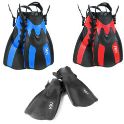 Swim Fins Travel Size Adjustable for Snorkeling Diving Adult Swimming Flippers $18.99