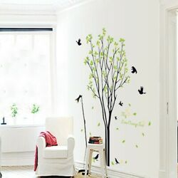Sticker Vinyl Background Wall Bedroom Bird Decoration Green Living Room $12.69