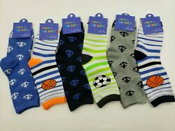6 Pairs lots Kids Boys Novelty Design Crew Socks $17.95