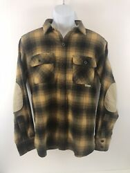 Iron amp; Resin Freedom Fighters Mens Flannel Shirt Small With Reinforced Elbows $55.00