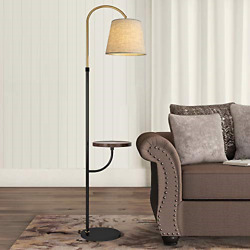 """OYEARS Modern Floor Lamp with Table for Living Room 66.5"""" Minimalist Tray Floor $123.16"""