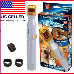 Professional Pet Dog Cat Nail Trimmer Grooming Tool Grinder Electric Clipper USA $9.79