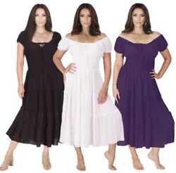 Gypsy Dress Mexican Peasant Resort Party Plus Sizes LotusTraders X72700 $37.39