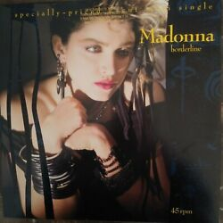 Madonna quot;Borderlinequot; and quot;Lucky Starquot; 12quot; promo single never played $21.99