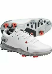 NEW Sz 12 Men#x27;s Under Armour UA Spieth 4 Gore Tex GTX White Golf 3022575 100 $108.95