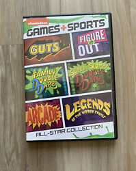 Nickelodeon Games Sports All Star Collection DVD 2014 Double Dare Guts Arcade $49.99
