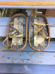 """WWII Military Bear Paw Snow Shoes SL1943 War Wooden 18"""" By 8"""" $50.00"""