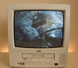 LOOK JVC C 13142W 13 in CRT TV w VCR Retro Gaming Fully Working $199.99