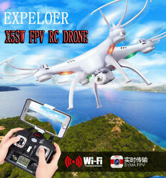 Syma Wifi FPV RC Quadcopter Drone with HD Camera Headless Mode 3D Flips X5SW $66.88