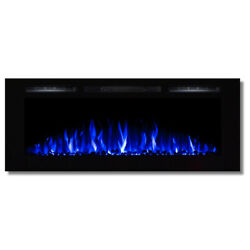 Regal FlameFusion 50quot;Built In Ventless Heater Recessed Wall Fireplace Pebble $624.95