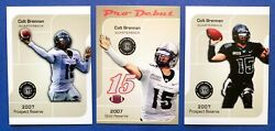 3 COLT BRENNAN 2007 GTC Hawaii Rainbow Warriors College Football RC LOT