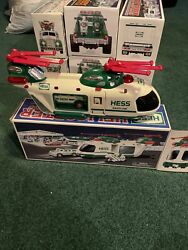 2001 Hess Truck Helicopter with Motorcycle amp; Cruiser w Original Box Collectible $9.99