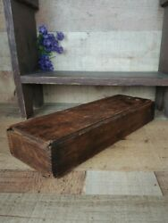 Early Antique Wooden Candle Box with Slide Lid Large Candle Box $79.00