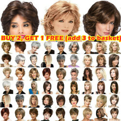 Real Natural Short Straight Wavy Curly Pixie Cut BOB Wig Hair Wigs Party Women $17.19