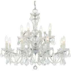 Crystorama 4479 CH CL MWP Maria Theresa Chandelier Polished Chrome $815.40