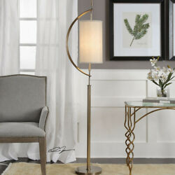 Uttermost 28151 1 Balaour Floor Lamp Antique Brass Plated Steel $382.80