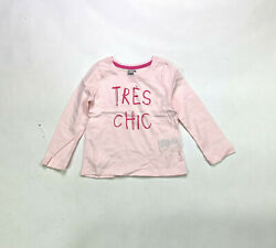 Spotted Zebra Crew Neck Tres Chic Girls Size 3T Pink T Shirt $5.49