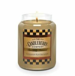 Candleberry Candles Cinnamon Rum Bananas Relaxing Aromatherapy Candles $24.99