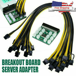 For HP PSU GPU 6PIN 1600W Mining Power DPS 1200FB Support up to 6 PCI e cable $26.99
