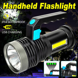 600000LM LED Tactical Flashlight Rechargeable Searchlight Torch Camping Light $13.99