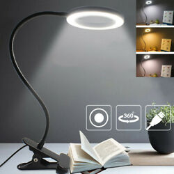Dimmable Desk Lamp Clip On LED Flexible Arm USB Study Reading Table Night Lights $15.99