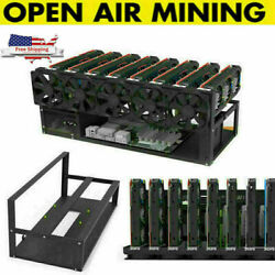 8 GPU Mining Rig Open Air Frame Miner Case For Crypto Coin ETH BTC Ethereum USA $87.99