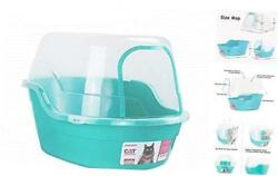 Covered Litter Box Jumbo Hooded Cat Litter Box Holds Up to Two Small Teal $72.77