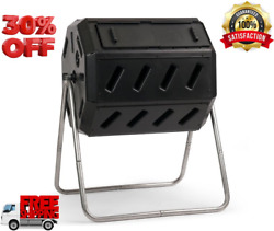 Outdoor IM4000 37 Gal. Dual Chamber Tumbling Composter Black $129.99