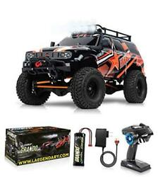 1:10 Scale Large RC Rock Crawler 4WD Off Road RC Cars Remote Red Orange $425.27