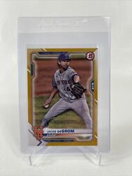 Jacob DeGrom 2021 Bowman Paper Gold 28 50 #46 NICE CARD $15.99