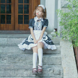 Lady French Maid Fancy Dresses Costume Outfit Waitress Uniform Plus Size Cosplay $28.25