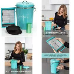 Compost Bin For Kitchen Counter: Stainless Steel Countertop Compost Container As $56.99